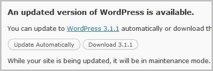 WordPress 3.1.1 Released, Fixes Security Issues